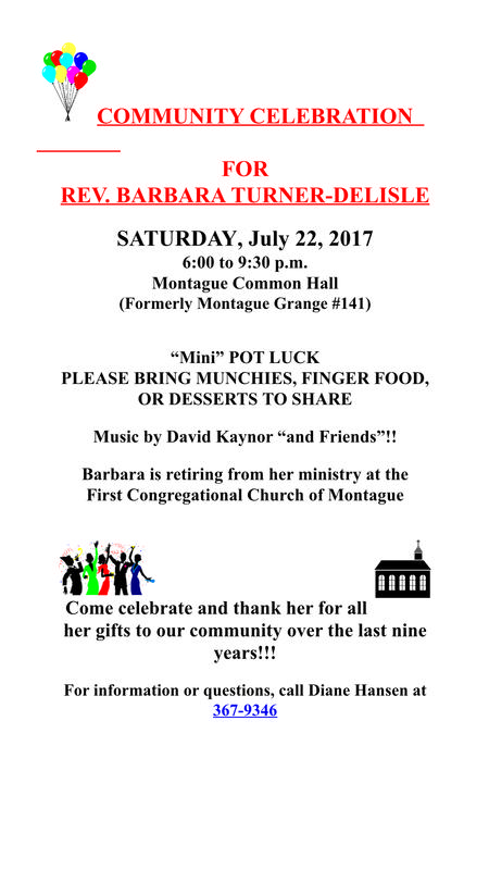 Pastor Barbs' Community Retirement Gathering